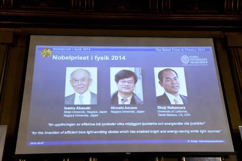 Phát Minh đèn LED 3 nhà khoa học đạt giải Nobel