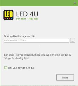 Hướng dẫn cài đặt phần mềm LED4U