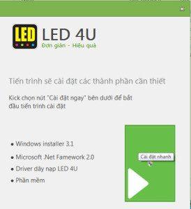 Hướng dẫn cài đặt phần mềm LED 4U