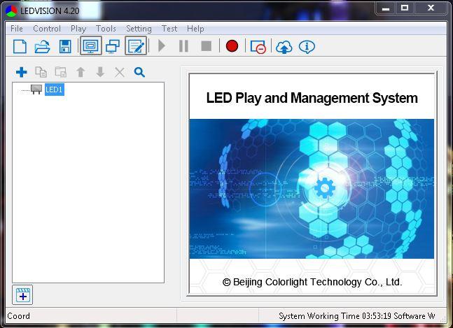 Phần mềm LED Vision Card A8